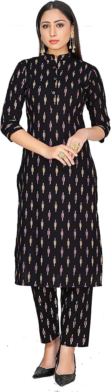 Indian Kurti for Womens With Pant | Rayon Block Print Kurta Partywear Kurtis For Women Tunic Set