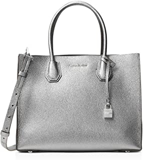766fe2c7319daf MICHAEL Michael Kors Mercer Large Leather Convertible Tote Light Pewter