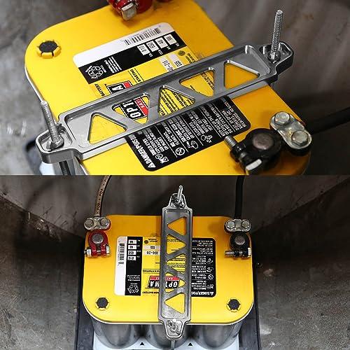 Matte Black Aluminum Car Battery Tie Down Bracket