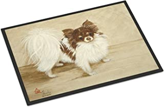 "Caroline's Treasures MH1051MAT Chihuahua Favorite Flavors Indoor or Outdoor Mat, 18 x 27"", Multicolor"