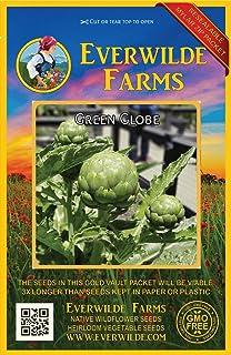 Everwilde Farms - 80 Green Globe Artichoke Seeds - Gold Vault Jumbo Seed Packet