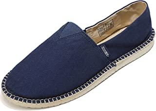 Qomo goose Unisex Espadrilles Multi-Purpose Women's Canvas Low Top Men's Slippers Flat Canvas Shoes Size 35-47 Black Size: