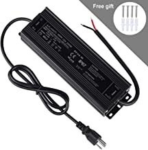 LED Driver 250W 12V , Waterproof IP67 LED Transformer ,LED Power Supply 110V AC to 12V DC Low Voltage Output with 3-Prong Plug 3.3 Feet Cable for LED Light, Computer Project, Outdoor Light