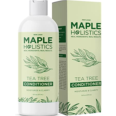 Tea Tree Conditioner for Dry Hair - Deep Conditioner for Dry Damaged Hair with Hydrating Argan and Keratin - Sulfate Free Hair Conditioner for Men and Women with Essential Oils for Hair Care