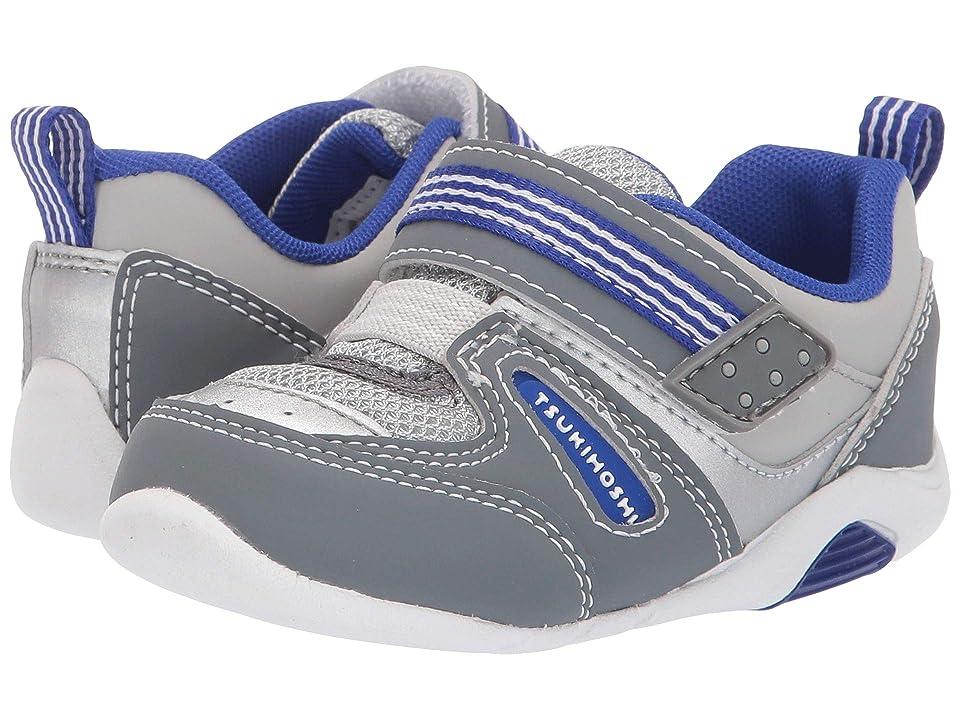 Tsukihoshi Kids Neko (Toddler) (Gray/Royal) Boys Shoes