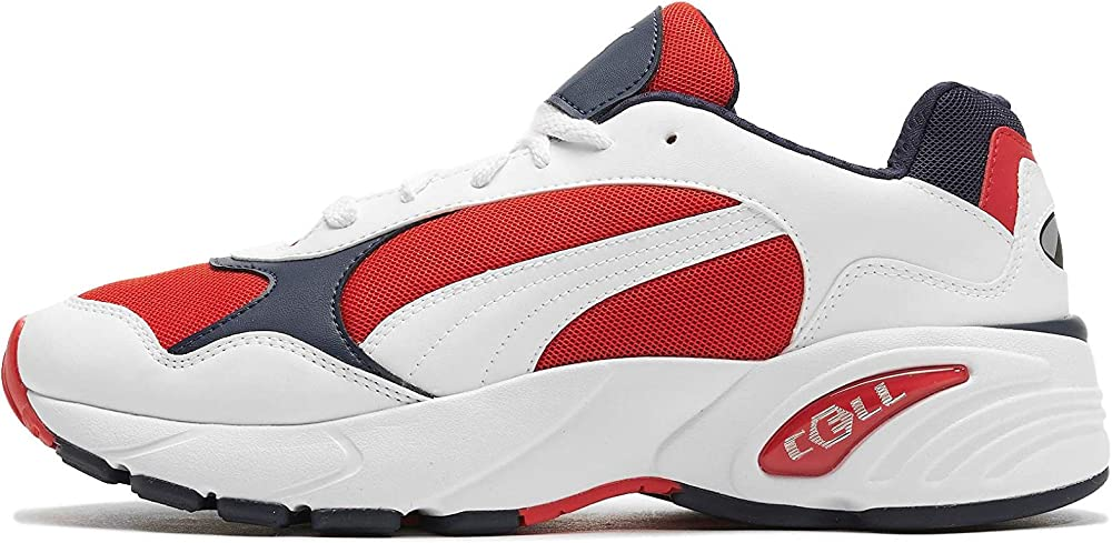 Puma cell viper,scarpe da ginnastica basse uomo,sneakers, tomaia in rete traspirante con rivestimento in pelle 369505