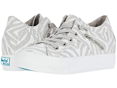 Blowfish Melondrop (Off-White Zebra Print Linen) Women