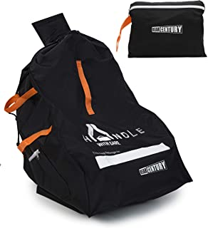 Heavy Duty Car Seat Travel Bag by Bear Century - Fit Most Carseat Models Including Backpack Straps, Side Pocket and Storage Pouch - Ideal for Airport Gate Check