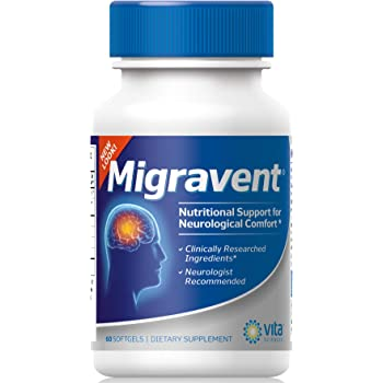 Migraine Relief Clinics Recommend Migravent as #1 Supplement to Support Optimal Cranial Comfort & Health, w/Vitamin B2, Riboflavin, Magnesium, Coenzyme Q10, PA-Free Butterbur.