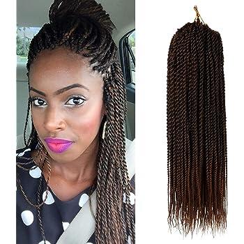 "18"" Senegalese Twist Crochet Braid Synthetic Kanekalon"