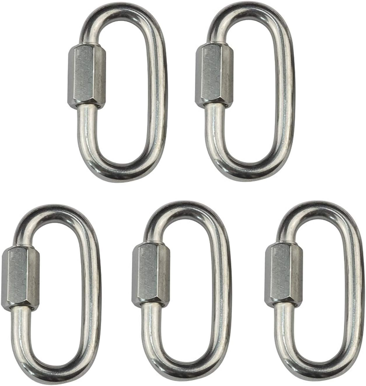ZSPPPP 5PCS 304 Stainless Steel Spring Snap Quick Link with Scre