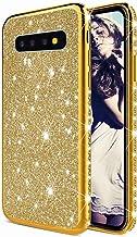 TYWZ Glitter Diamond Case voor Samsung Galaxy S10 Plus,Bling Rhinestone Beschermende Bumper Siliconen Plating Frame TPU Co...