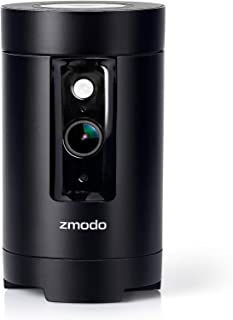 Zmodo Pivot 1080p HD 360° Rotating Wireless All-in-one Security Camera System with 2 Pack Door Window Sensor (Renewed)
