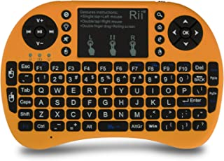 (Upgraded) Rii 2.4GHz Mini Wireless Keyboard with Touchpad&QWERTY Keyboard,LED Backlit,Portable Keyboard Wireless for lapt...