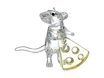 Swarovski Mouse with Cheese Figurine (Light Multi) Earring