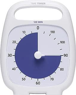 Time Timer PLUS 120 Minute Visual Analog Timer Optional Alert (VolumeControl Dial) No Loud Ticking; Time Management Tool