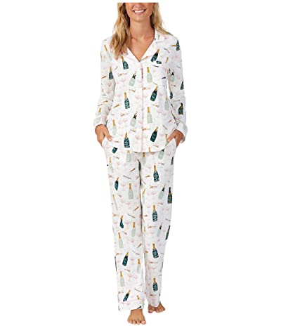 BedHead Pajamas Long Sleeve Classic Notch Collar Pajama Set (Cotton Spandex) (Cheers) Women