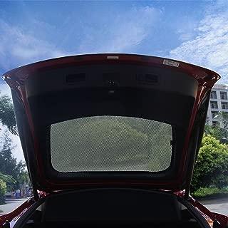 wjm Rear Lift-gate Mesh Sunshade,Rear Car Window Shade for Tesla Model S (Model S-Rear Lift-gate)