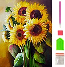 Sunflower Diamond Painting kits for Adults, Full Drill Diamond Art Kits Painting with Diamonds Kits for Wall Decor, 11.8x15.7 inch