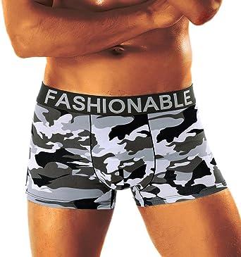 UJUNAOR Men's Camouflage Soft Briefs Underpants Knickers Shorts Sexy Underwear Sport Panties