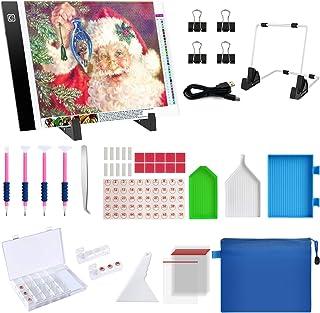 Diamond Painting A4 LED Light Pad Kit, Diamond Art Light Board Kit, 59PCS 5D Diamond Painting Kits with Diamond Painting T...