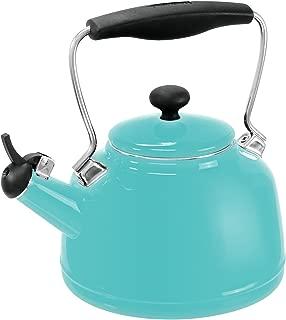 Chantal 37-VINT AQ Enamel on Steel Vintage Teakettle, 1.7 quart, Aqua
