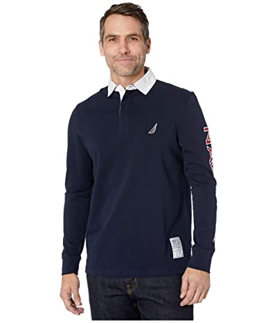 Nautica Rugby Knit Shirt (Navy) Men