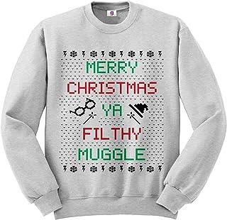 Graphic Impact Merry Christmas Ugly Jumper Ya Filthy Mug Ugly Jumper Funny Printed Sweatshirt