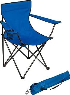 Trademark Innovations Portable Folding Camp Chair (Blue)