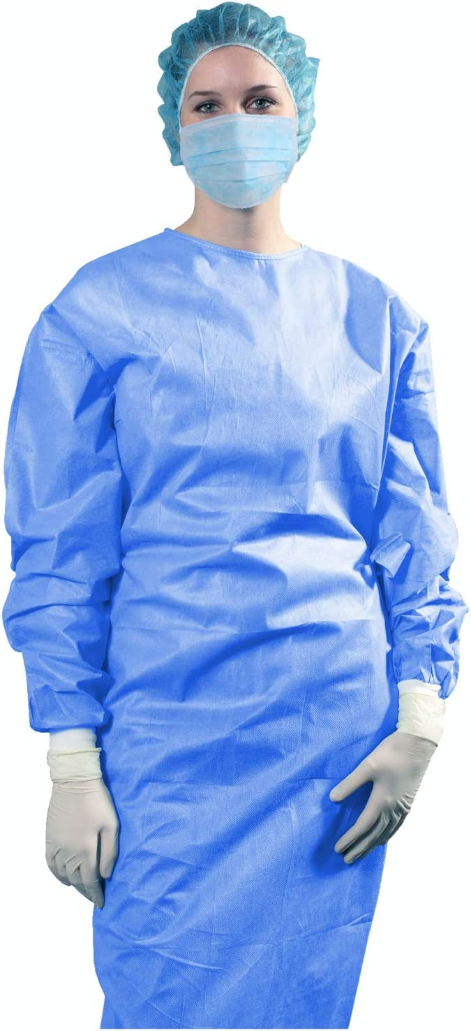AMZ Disposable Gowns Medical Pack Blue 10 New sales Of Isolation Quality inspection Dis
