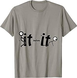 Stick Figure Fuck It Before It Fucks You Stickman Printed T-Shirt