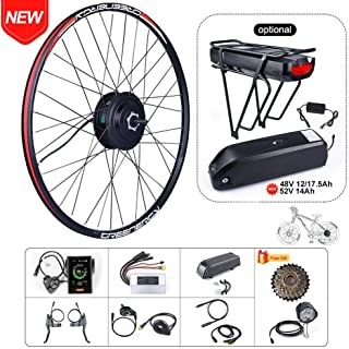 "BAFAGN 48V 500W Brushless Hub Motor Ebike Conversion Kit for All Kinds of Bikes 20"" 26"" 27.5"" 700C Rear Wheel 7 Speed Cassette Electric Bicycle Conversion Kit with Battery"