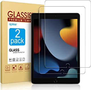2 Pack Screen Protector Compatible with iPad 9th Generation / iPad 8th Generation 10.2 Inch, apiker Tempered Glass Compati...