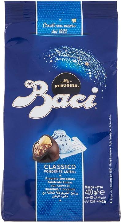 Baci perugina cioccolatini fondenti ripieni, 400g B07XDT89NQ