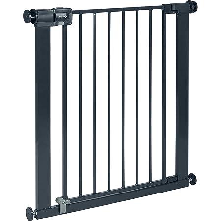 Safety 1st Easy Close Metal – Barriera di sicurezza in metallo per porte e scale, Barriera Scala per bambini, bambini e cani, 80 cm (allungabile fino a 136 cm con estensioni acquistate separatamente)