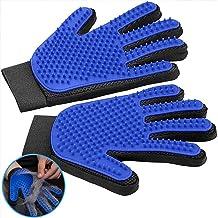 FEMW Pet Grooming Glove - Efficient Pet Hair Remover Mitts - Pet Massage Gloves - Gentle Deshedding Brush Glove - for Dog ...
