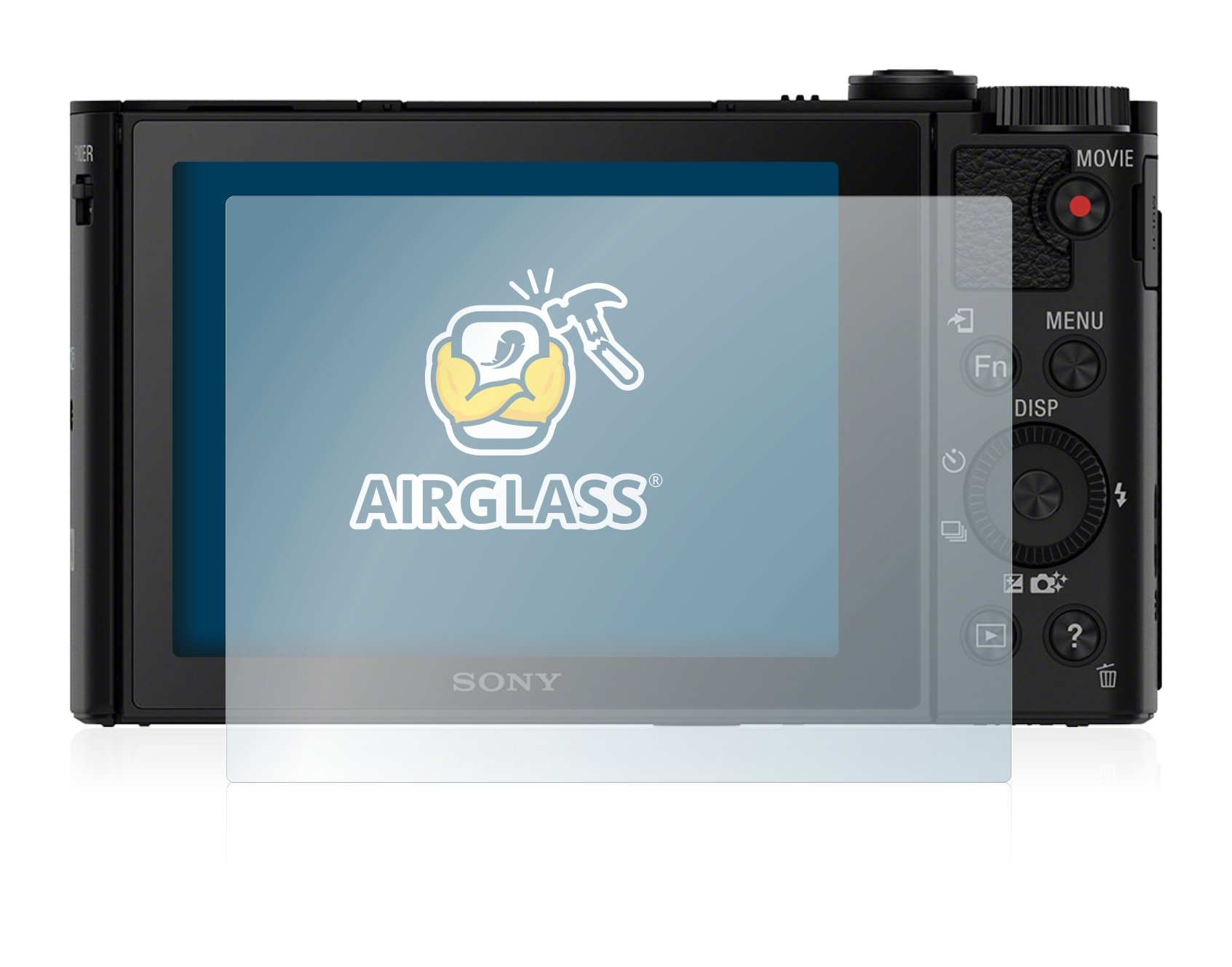 BROTECT Protector Pantalla Cristal Compatible con Sony Cyber-Shot DSC-WX500 Protector Pantalla Vidrio 3 Unidades Dureza 9H AirGlass