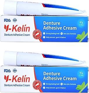 Y-Kelin Denture Adhesive Cream 40gr /1.4oz Strong Hold (pack of 2)