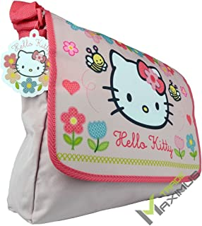 HELLO KITTY Bolso de hombro / bolso bandolera para niña con cierre de velcro / rosa / lavable / perfecto para guardería / ...