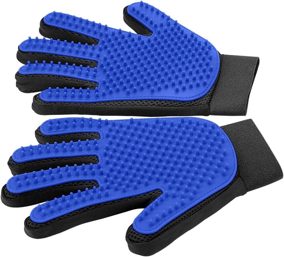 Amazon.com: [Upgrade Version] Pet Grooming Glove - Gentle Deshedding Brush  Glove - Efficient Pet Hair Remover Mitt - Enhanced Five Finger Design -  Perfect for Dog & Cat with Long & Short