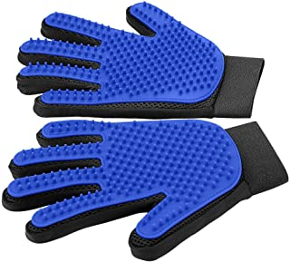 [Upgrade Version] Pet Grooming Glove – Gentle Deshedding Brush Glove –..