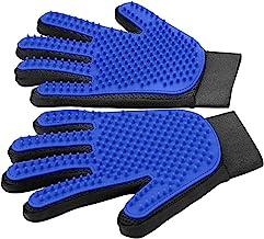 [Upgrade Version] Pet Grooming Glove - Gentle Deshedding Brush Glove - Efficient Pet Hair Remover Mitt - Enhanced Five Fin...