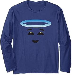 Angel Halo Smiling Face Halloween Emojis Easy DIY Costume Long Sleeve T-Shirt