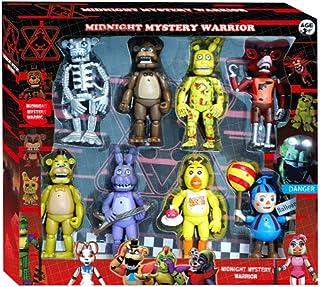 8 stks Set Vijf Nachten op Freddy's Figuren FNAF Actiefiguur met Lichten Freddy Foxy Zus Locatie Horror Doll PVC Figuren v...