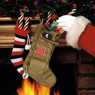 AIRSOFTPEAK Tactical Pouch Molle Christmas Stocking Bag Design Military Ammo Bullet EDC Pouch Dump Drop Magazine Storage Bag,