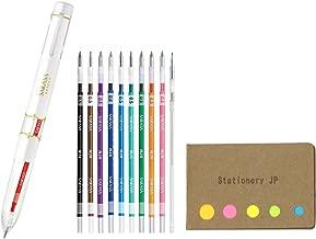 Zebra Sarasa Select 5 Color Multi Pen Body Component, White Body, 0.5mm 10 Colors Ink, 0.5mm Mechanical Pencil Unit, Sticky Notes Value Set