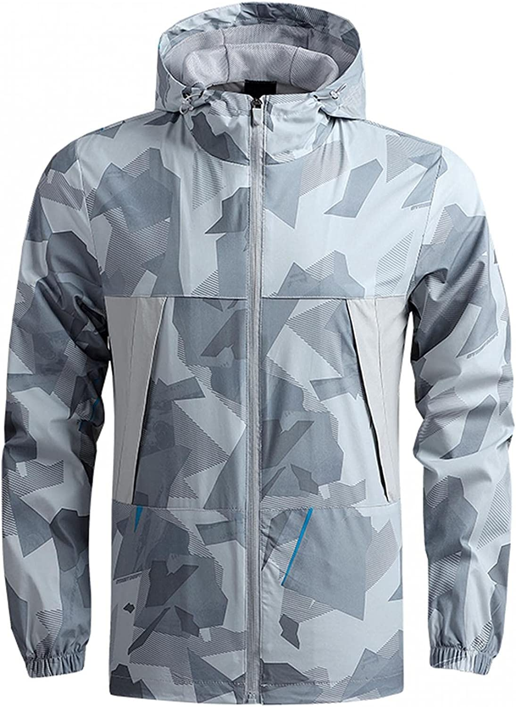 Clearance Men's Hoodie Jackets Regular Fit Casual Hooded Sweatshirt Running Sports Outwear Jacket Coat