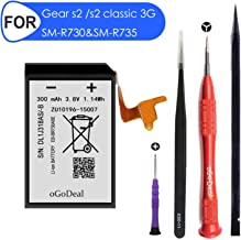 oGoDeal Battery Replacement Compatible for Samsung Gear S2 3G R730 and Gear S2 Classic 3G R735 and Gear Sport SM-R600 EB-BR730ABE Battery SM-R730A SM-R730V SM-R730S SM-R735A