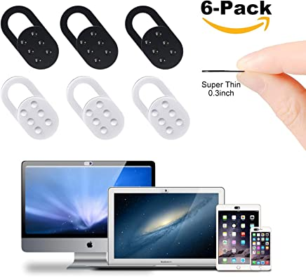 AJOXEL 6 Pezzi Webcam Cover Slider, Copri Webcam Copertura Webcam Ultra Sottile Protezione Privacy e Sicurezza per Portatile, Computer, MacBook PRO, iPad, Laptop, PC, Mac, iPhone (Nero+Bianco) - Trova i prezzi più bassi