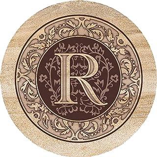 Thirstystone Monogram R - Sandstone Coaster Set Of 4